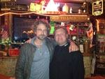 Gerard Butler frequents Cameron's Pub while filming Maverick's movie.